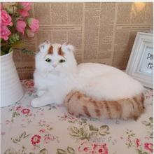 WYZHY Simulation cat creative home decoration leather pure hand craft birthday gift 30CMx21CMx16CM