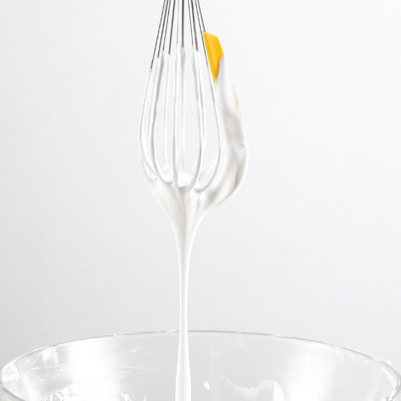 3 шт./компл. с Сепаратор для яиц яичный венчик из нержавеющей стали вращающийся Многофункциональный ручной силиконовый скребок кухонный миксер