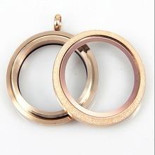 Wodoodporna różowe złoto ze stali nierdzewnej pływające wisiorek medalion blask śruba żywej szklany pływający urok medalion dla dziewczynek 10 sztuk
