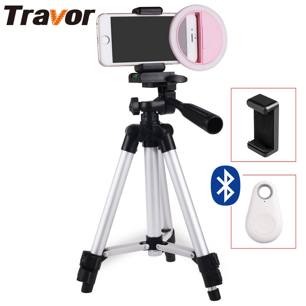 Travor Camera Enhancing Photography Selfie Ring Light for Smartphone +65cm Tripod+Phone holder+Bluetooth remote control кольцо для селфи selfie ring light на батарейке белое