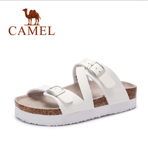 For camel women's shoes casual comfortable sandals side buckle low-heeled slippers 2016 beach sandals
