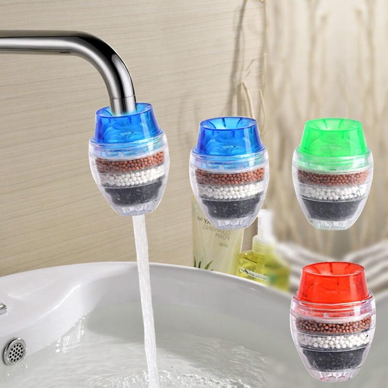 Mini Home Coconut Carbon Cartridge Faucet Tap Water Clean Purifier