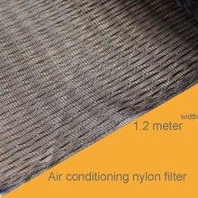 1 м кондиционер нейлон фильтр для воздуха фильтр пыли чистая Вентилятор номер чистая крышка впускной воздушный фильтр 1,2 ширина черный