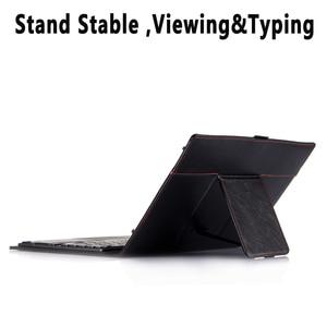 Image 3 - Funda de teclado TouchPad para Samsung Galaxy Tab S5E 10,5 2019 SM T720 T720 T725, Funda de cuero inteligente, separador de Teclado + bolígrafo