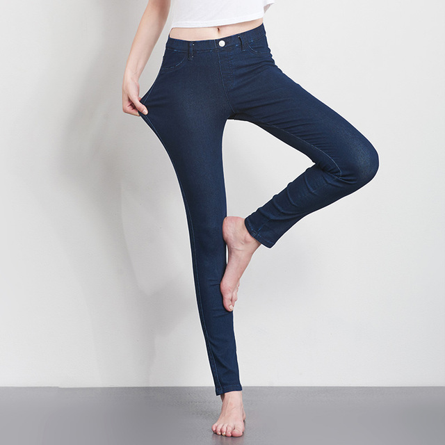 Women Slim Stretch Cotton Jeans Pant