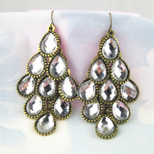 Fashion Basketball Wives Crystal Earrings Jewelry For Luxury Statement Earring Latest Vintage Design Earrings For Women