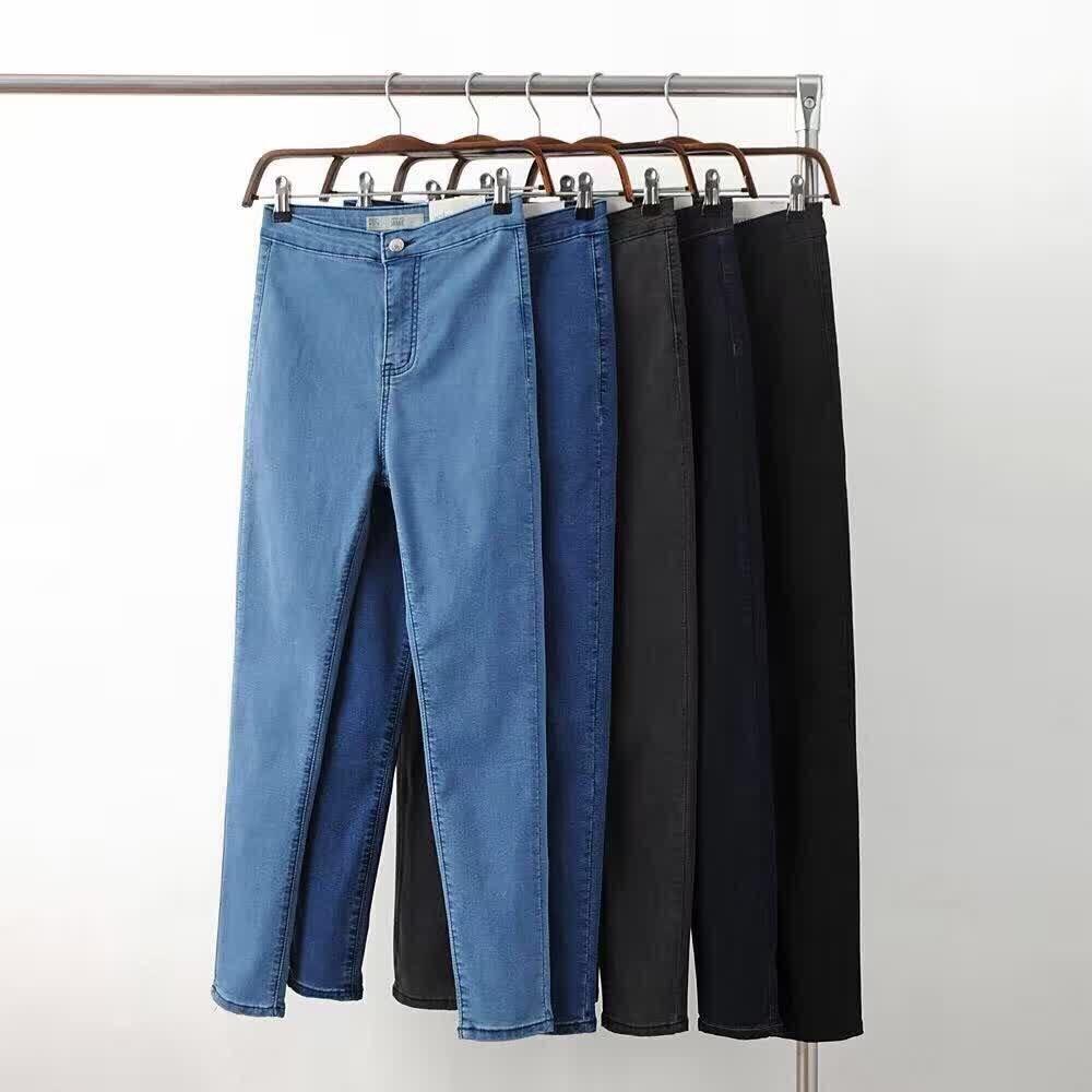 где купить Fetoo Female 2017 Skinny Elastic Jeans For Women Black High Waist Jeans Woman Slim Denim Women Jeans Femme Pencil Pants Trousers по лучшей цене