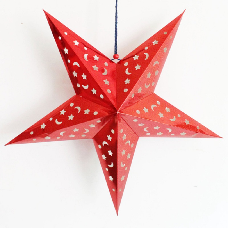 Paper Christmas Star Manual Tree Decorations Paperboard Pentagram For Home In From Garden On
