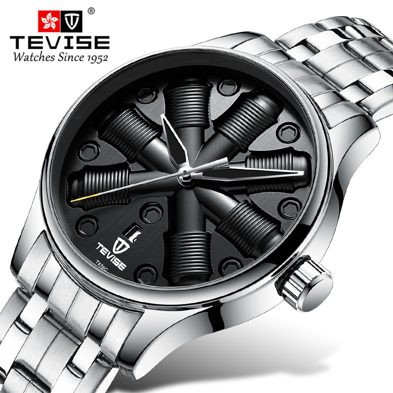 TEVISE Men Automatic Mechanical Fashion Top Brand Sport Watches Dynamic Dial Luminous Stainless Steel Watch Relogio MasculinoTEVISE Men Automatic Mechanical Fashion Top Brand Sport Watches Dynamic Dial Luminous Stainless Steel Watch Relogio Masculino
