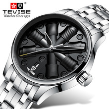 TEVISE Men Automatic Mechanical Fashion Top Brand Sport Watches Dynamic Dial Luminous Stainless Steel Watch Relogio Masculino jargar brand automatic fashion dress wristwatch round dial mechanical watches with stainless steel band for men