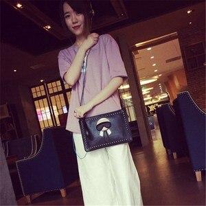Image 4 - Mode Vrouwen Clutch Bag Leer Vrouwen Envelop Tassen Clutch Bag Vrouwelijke Koppelingen Handtas Lady Schouder Messenger Bags