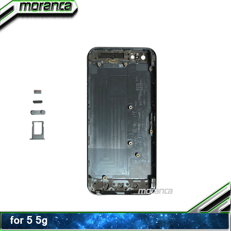 Back Housing for iPhone 5 5G Battery Door Cover Middle Frame Chassis with Buttons Sim Tray Customized IMEI Repair Parts