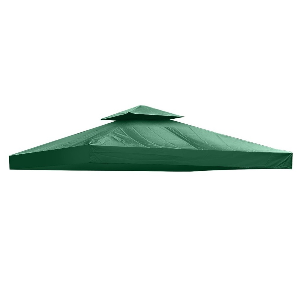 Hot 10*10 Feet300D Polyester Gazebo Top Cover Patio Canopy Roof Of Tent Double-layer Against UV Rays From Sun Beach Tent Cover outdoor double layer 10 14 persons camping holiday arbor tent sun canopy canopy tent
