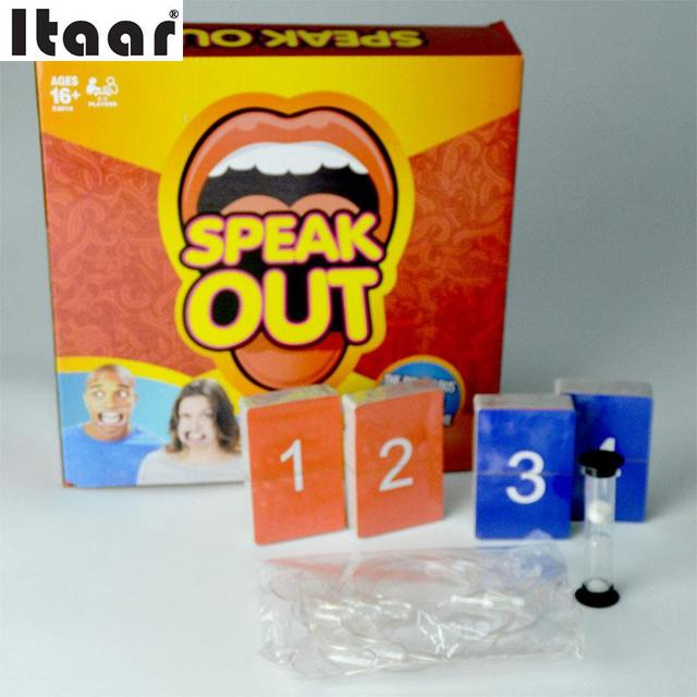 Speak Out Game Games Family Children Practice Talk Toys Funny Mouthpiece Game