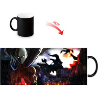 ONE PUNCH-MAN Print Color Change/Changing Ceramic Morph Mug Heat Sensitive Porcelain Morphing Mugs Coffee Tea Milk Cups 1