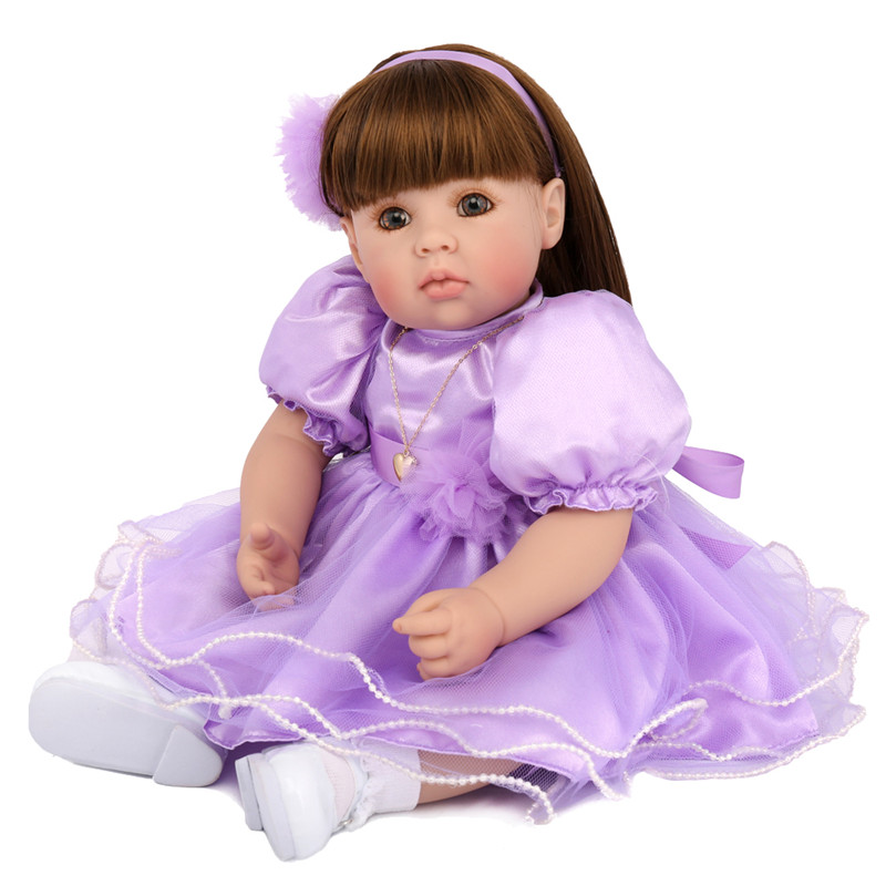20 Silicone Reborn Toddler Baby Doll Toys 50cm Princess Girl Like Alive Bebe Girls Brinquedos Limited Collection Birthday Gift20 Silicone Reborn Toddler Baby Doll Toys 50cm Princess Girl Like Alive Bebe Girls Brinquedos Limited Collection Birthday Gift