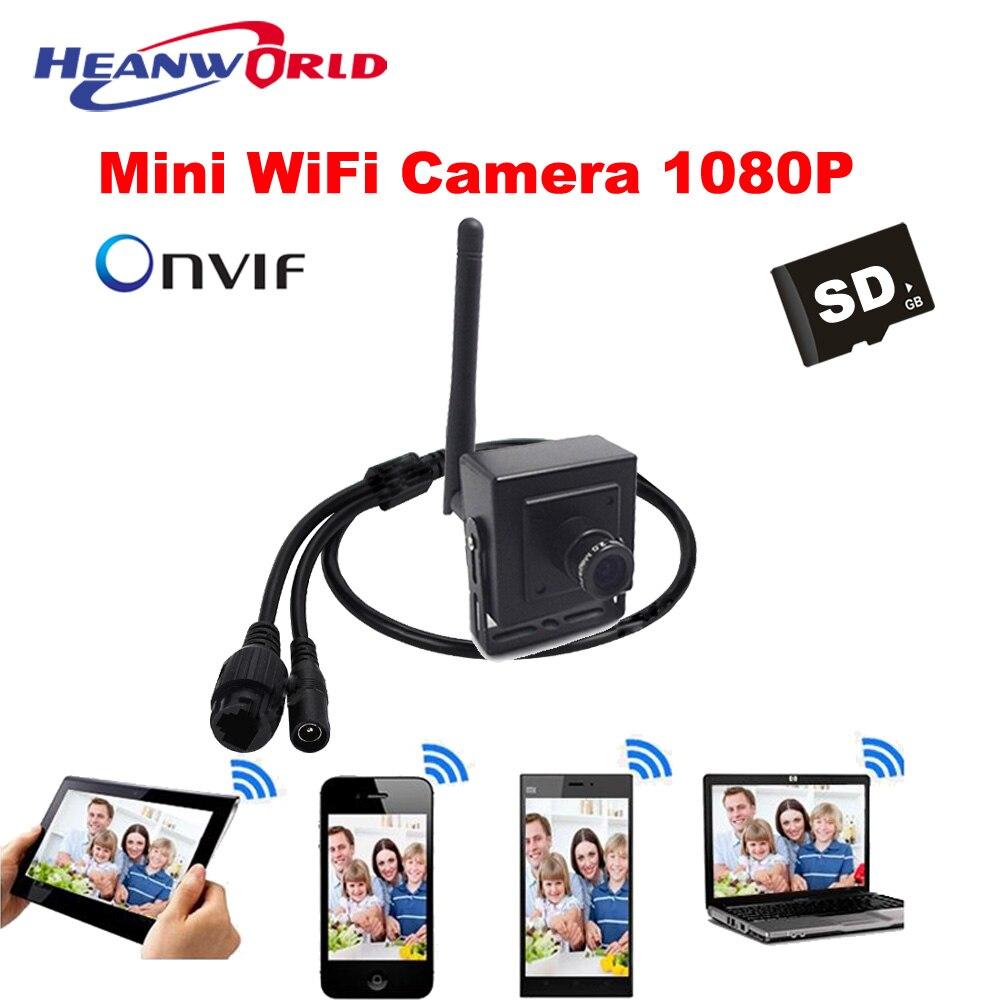 Mini HD Wi-fi Câmera IP 2.0MP P2P pequena Câmera de Rede Sem Fio Da Câmera de 1080 p ONVIF CCTV Câmera De Segurança do iphone Android APP