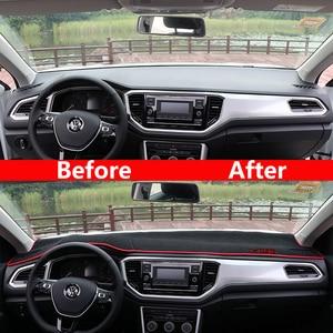 Image 4 - Car Dashboard Cover Mats Avoid light Pad Instrument Platform Desk Carpets Trim LHD For Volkswagen VW T ROC T ROC TROC 2017 2018