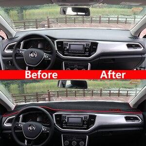 Image 4 - Garniture pour tableau de bord de voiture, tapis, pour éviter la lumière, pour Volkswagen VW T ROC T ROC TROC 2017 2018