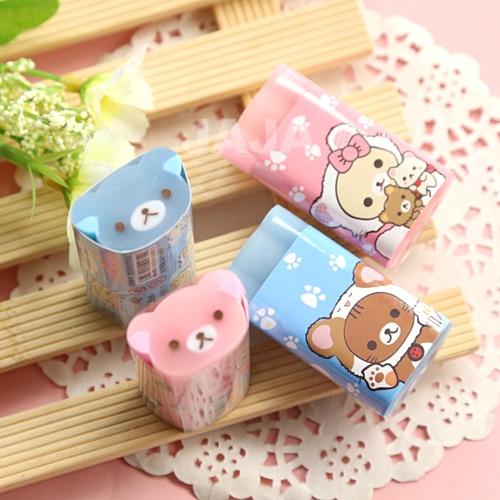 1pc New Arrival Animal Design Erasers Cute Stationery Pencil Rubber Eraser Office Zakka School Pupils Supply (dd-1394)