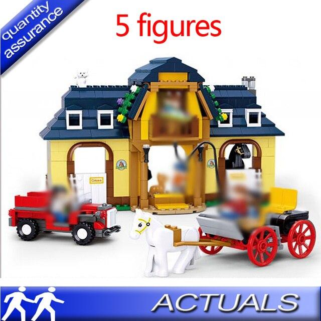 Compatible With Lego Toys 526 Pcs Happy Farm Building Blocks Set ...