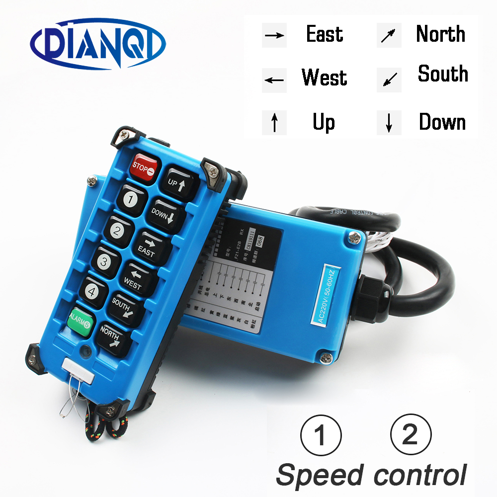F21 E2B 8 industrial remote controller switches 10 Channels keys Direction button Hoist Crane Truck Radio