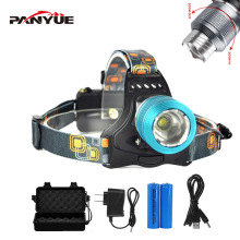PANYUE Factory Supply 2000 Lumens Lamp Head Adjustable 10W T6 Led Light Rechargeable Headlamp Headlight Head Flashlight Torch цена в Москве и Питере