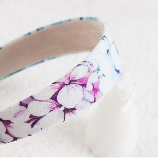 Girls' Cute Blue Floral Headband