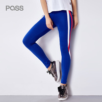 PASS 2017 New Autumn Fashion Printing Leggings Slim Panelled Pencil Pants Female Casual Trousers