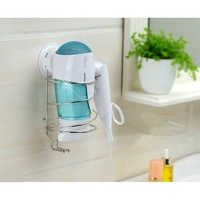 Hair Dryer Holder Suction Cup Stainless Steel Bathroom Shelves Bathroom Accessories