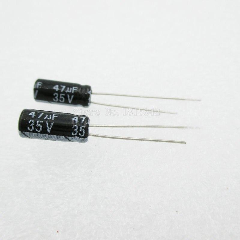 20PCS/LOT 47uF 35V Aluminum Electrolytic Capacitor 5*11 Electrolytic Capacitor 35v 47uf