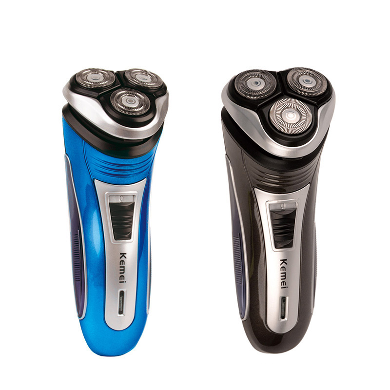 Kemei Triple Floating Blade Heads Rechargeable Electric Shaver 100-240V Electric Shaving Razors Face Care Beard Trimmer for Men professional washable 5 heads rechargeable electric shaver razors men s face care 5d floating shaver shaving beard trimmer s47