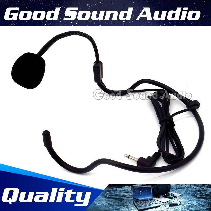 3.5mm Plug Wired Condenser Headworn Headset Microphone Earhook Headband Mic For Wireless Karaoke Teaching Megaphone PC Interview