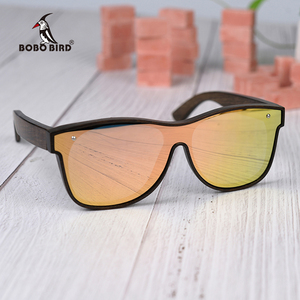 Image 3 - BOBO BIRD Sunglasses Men Brand Luxury Square Polarized Wood Sun Glasses Driving Eyewear UV400 Oculos De Sol Gafas