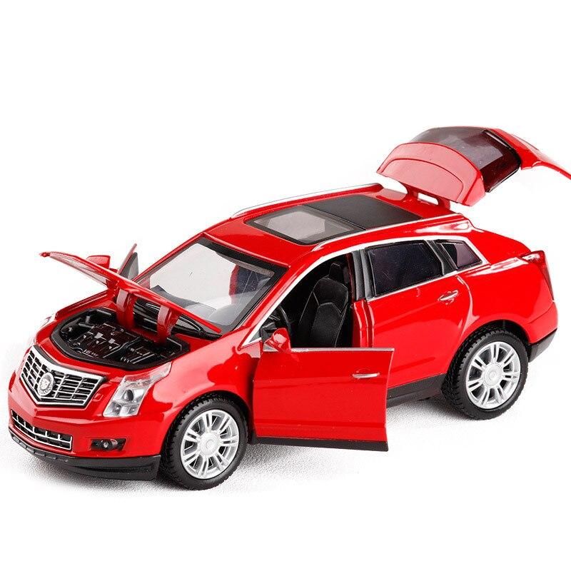 YJ 1/32 Весы звук и свет автомобиля Игрушечные лошадки США Cadillac SRX внедорожник литья под давлением Металл Игрушки для подарка /Дети/Коллекция ...