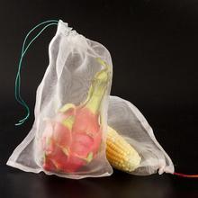 야채 과일 보호 메쉬 가방 정원 식물 안티 조류 Drawstring 그물 가방 농업 해충 방제 10 개/대 #20