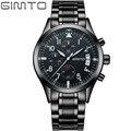Gimto marca relógio de quartzo esportes homens moda casual relógio de luxo militar relógios relógio dos homens de aço à prova d' água relogio masculino