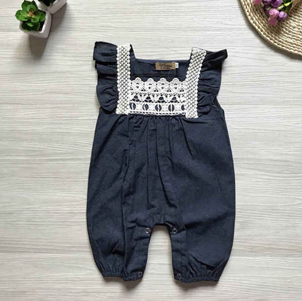 e56c9b9920f8 0-24M Newborn Baby Girls Lace Romper Jumpsuit Denim Pants Shorts Playsuit  Outfit Lovely Casuala