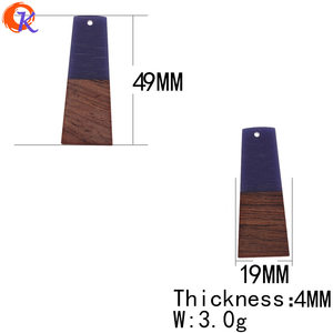 Image 3 - Cordial Design 30Pcs 19*49MM Jewelry Accessories/Hand Made/DIY Making/Trapezoid Shape/Natural Wood With Resin/Earring Findings