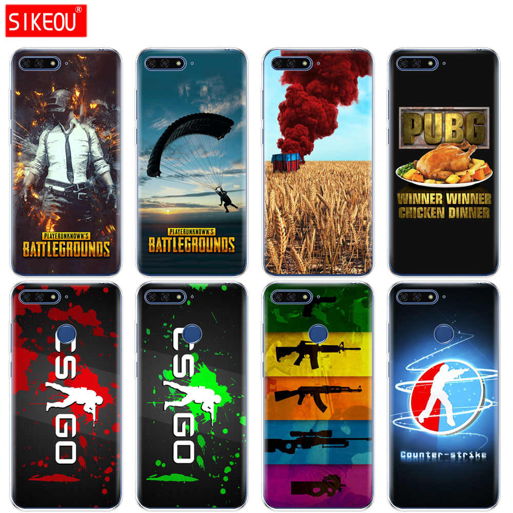 Silicone Cover Phone Case For Huawei Honor 7A PRO 7C Y5 Y6 Y7 Y9 2017 2018 Prime Counter Strike CS GO PUBG