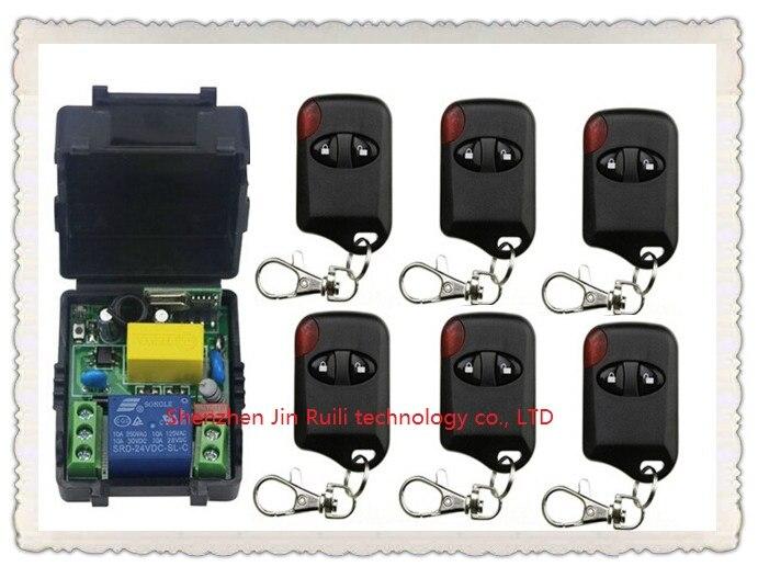 Hot Sales AC220V 10A 1CH 315MHz/433MHZ Wireless RF Remote Control Switch teleswitch 6* cat eye Transmitter+ 1*Receiver