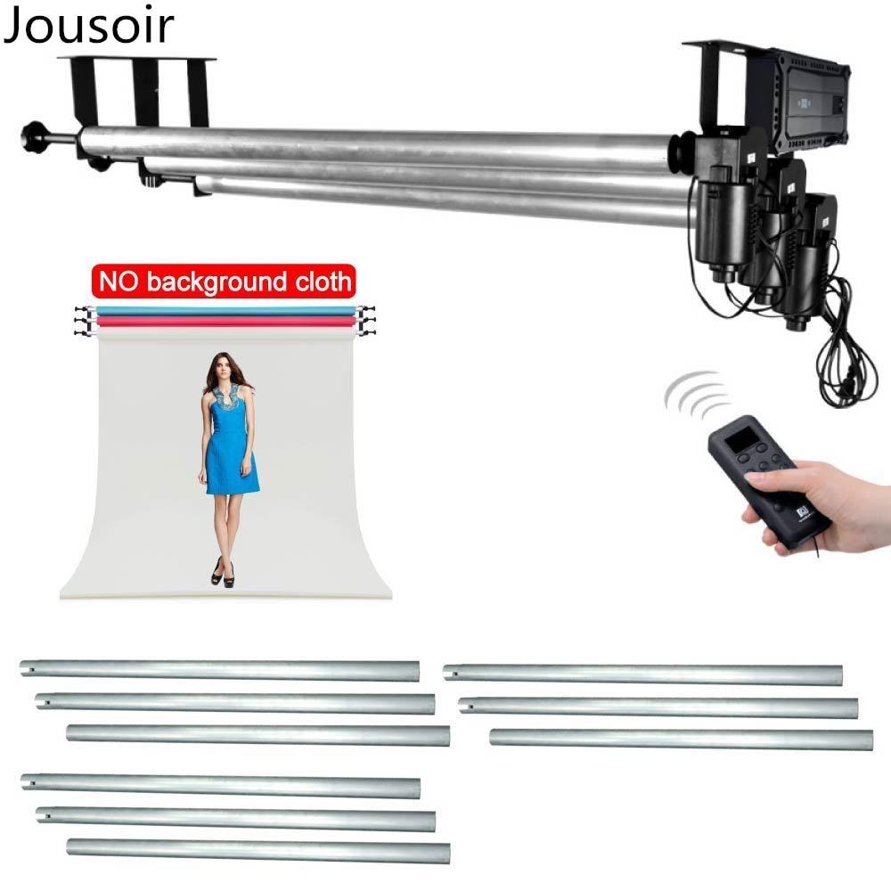 3X3 M barre transversale + rouleau mur plafond montage motorisé fond électrique toile de fond photographie Support système CD50