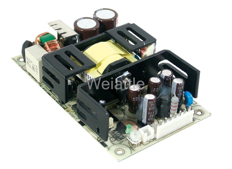 MEAN WELL original RPS-75-12 12V 6.3A meanwell RPS-75 12V 75.6W Single Output Medical Type original meanwell rps 160 12 single output 160w 12v 12 9a mean well medical open frame type power supply rps 160 pcb type