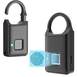 Bezpieczne Blokada z użyciem linii papilarnych inteligentne Mini blokada drzwi Anti Theft zamek elektroniczny w Zamki elektryczne od Bezpieczeństwo i ochrona na