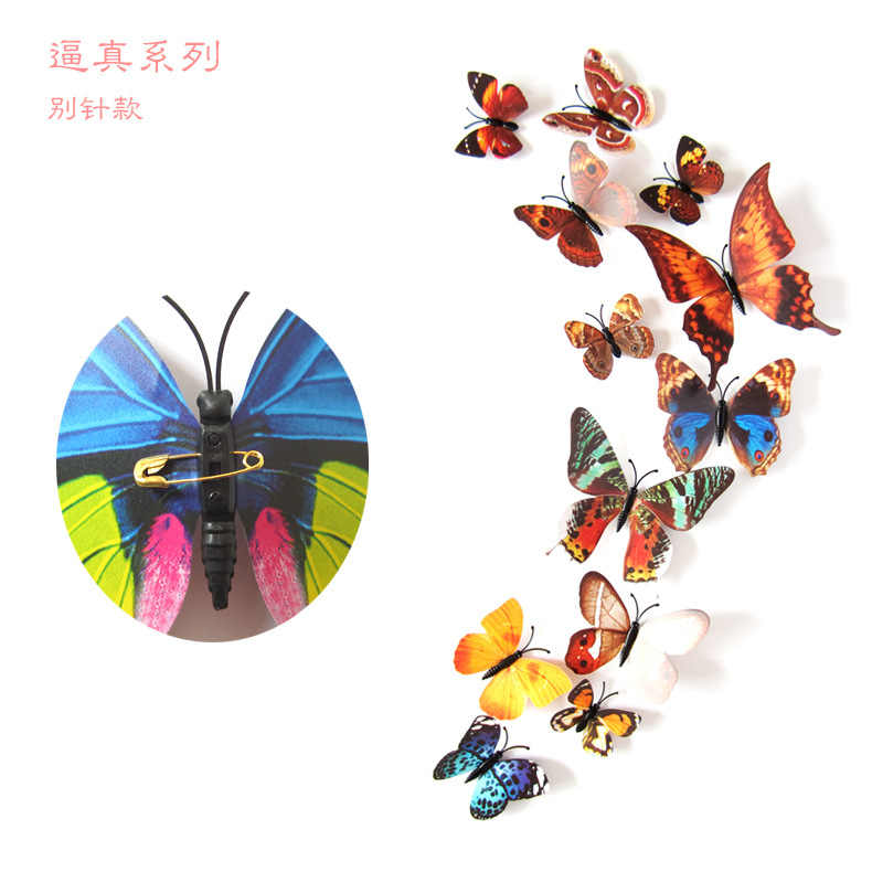 12 шт. ПВХ 3d бабочка Настенный декор милые бабочки настенные художественные наклейки переводки украшение для дома комнаты стены искусства