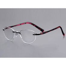 New Rimless Womens Reading Glasses magnifier Ultralight HD Fashion Presbyopia For Sight Reader Gafas de lectura  D5