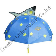 Kid animal umbrella,cartoon design,hand open.8mm s