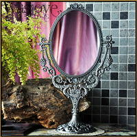 bronze/ old tin colo retro decoration makeup mirror double vanity mirror with mirror frame decorative framed mirror J005
