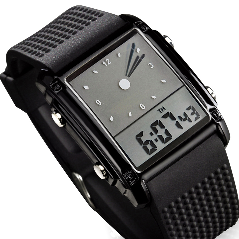 Skmei Sports Watches Quartz Digital Waterproof Dual-Time Backlight 30m LED Dress Colorful
