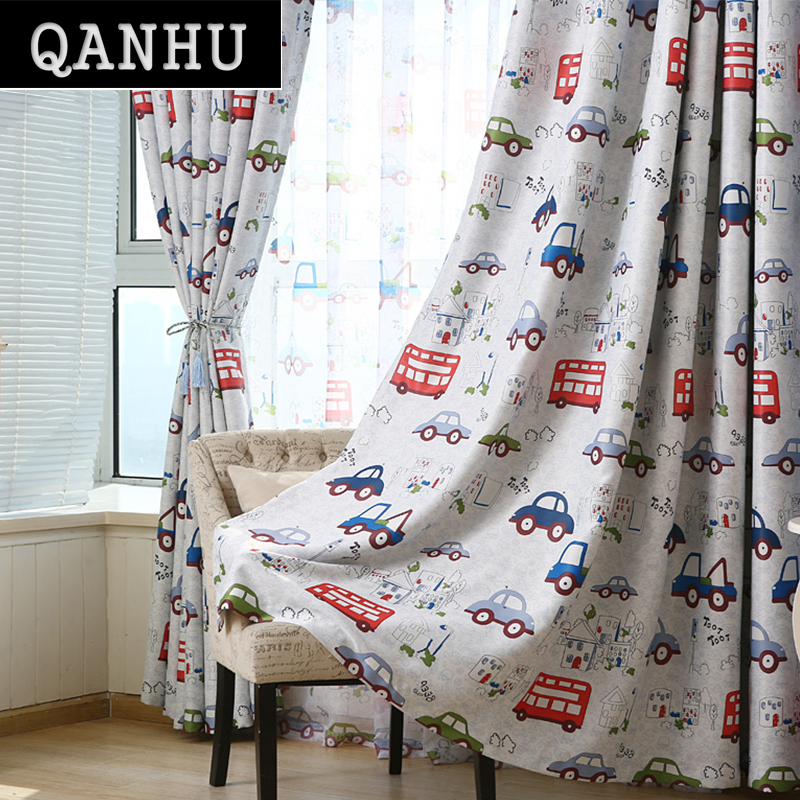 qanhu 2017 private custom cute curtains baby room bedroom blackout curtainschina mainland